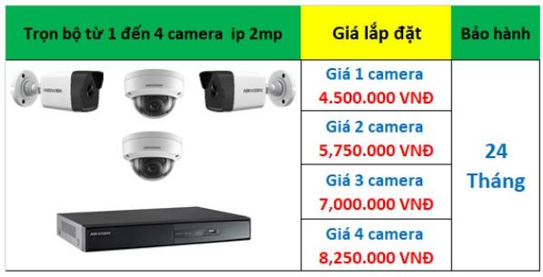 Bảng giá 1 - 4 camera ip hikvision