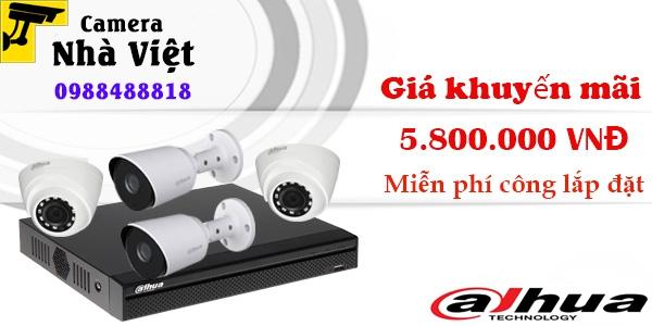 Bảng giá trọn bộ 4 camera Dahua 2MP