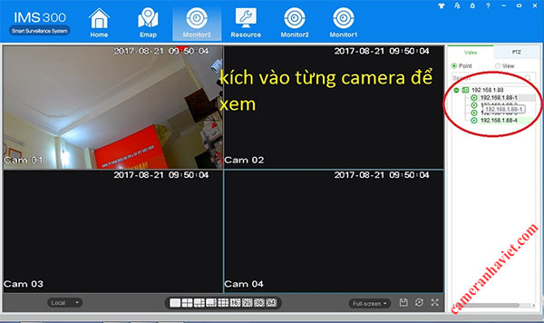 Huong dan xem camera HDPro tren may tinh