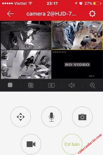 xem camera Hikvision tren dien thoai