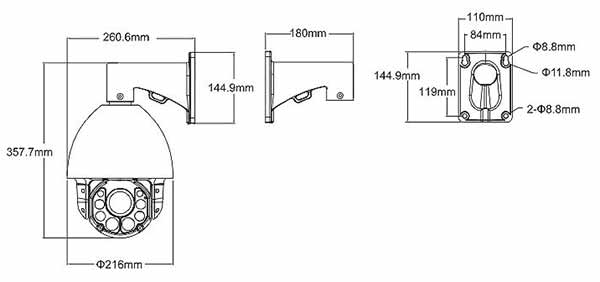 Camera Speed Dome IP 2MP AVTECH AVM2592L chất lượng