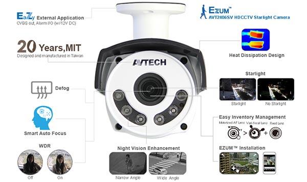 Camera HDCCTV-TVI Avtech AVT2406SV giá tốt