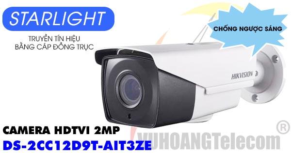Camera HDTVI 2MP Hikvision DS-2CC12D9T-AIT3ZE dòng Starlight và chống ngược sáng