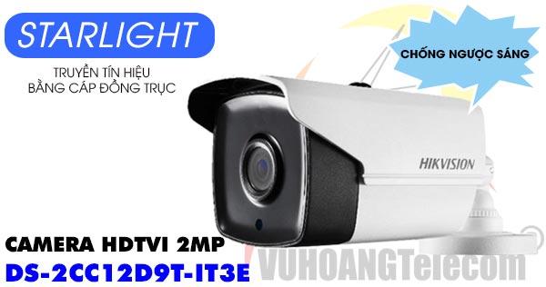 Camera HDTVI 2MP Hikvision DS-2CC12D9T-IT3E dòng Starlight và chống ngược sáng