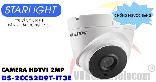 Camera HDTVI 2MP Hikvision DS-2CC52D9T-IT3E dòng Starlight và chống ngược sáng