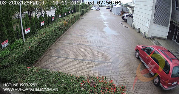 Test camera DS-2CD2125FWD-I vào ban ngày