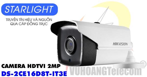 Camera HDTVI 2MP Starlight Hikvision DS-2CE16D8T-IT3E giá rẻ