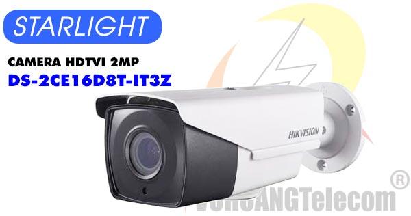 Camera HDTVI 2MP Starlight Hikvision DS-2CE16D8T-IT3Z giá rẻ