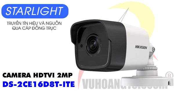Camera HDTVI 2MP Starlight Hikvision DS-2CE16D8T-ITE giá rẻ