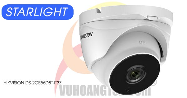 Camera Dome HDTVI 2MP Starlight Hikvision DS-2CE56D8T-IT3Z giá rẻ