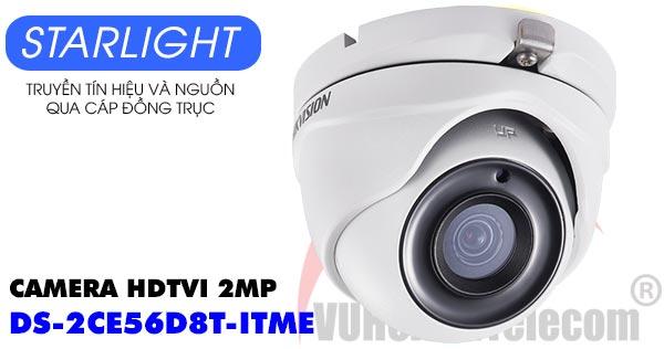 Camera Dome HDTVI 2MP Starlight Hikvision DS-2CE56D8T-ITME giá rẻ