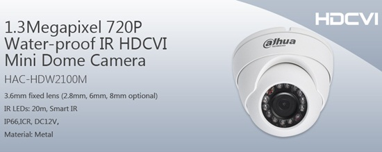 Camera HDCVI DAHUA HAC-HDW2100M