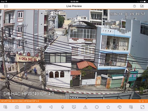Demo camera DH-HAC-HFW2401D với đầu ghi hình 4.0MP DH-HCVR7104H-4M mới