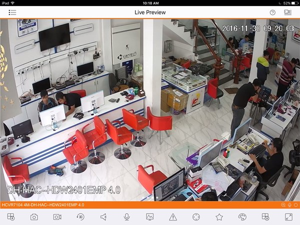 Demo đầu ghi hình Dahua 4megapixel HCVR7104H