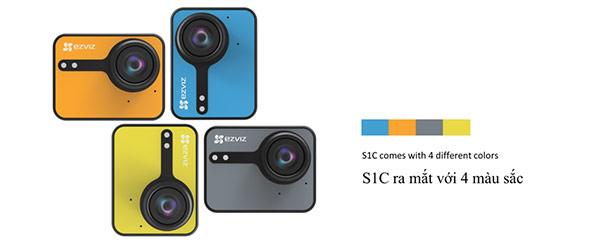 Camera hành trình EZVIZ S1C có nhiều màu sắc tùy chọn