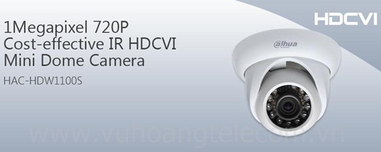 Camera HDCVI DAHUA HAC-HDW1100S