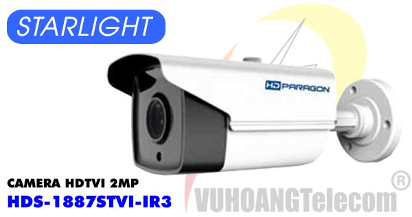 Camera HDTVI 2MP Starlight HDPARAGON HDS-1887STVI-IR3 giá rẻ