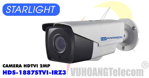 Camera HDTVI 2MP Starlight HDPARAGON HDS-1887STVI-IRZ3 giá rẻ