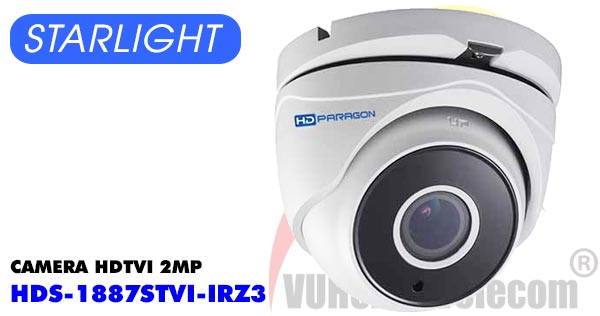 Camera Dome HDTVI 2MP Starlight HDPARAGON HDS-5887STVI-IRZ3 giá rẻ