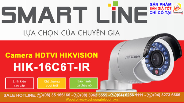 camera Smart Line Hikvision HIK-16C6T-IR
