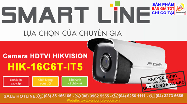 Camera Smart Line Hikvision HIK-16C6T-IT5