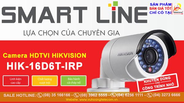Camera Smart Line Hikvision HIK-16D6T-IRP
