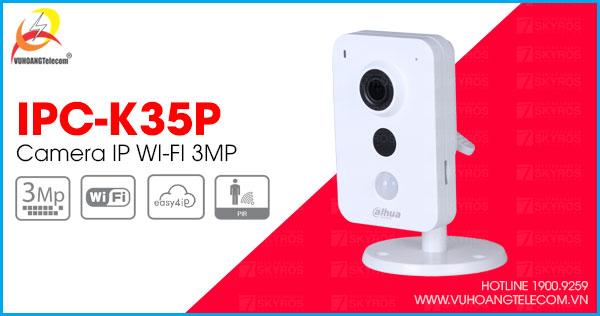 Bán camera IP Wifi 3MP Dahua IPC-K35P giá tốt