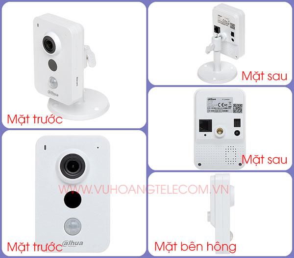 Hình ảnh các hướng của sản phẩm camera IP IPC-K35P