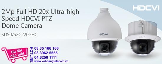 cameranhaviet phân phối camera HDCVI PTZ 2.0MP DAHUA SD50220I-HC