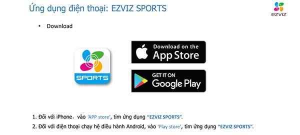 Ứng dụng EZVIZ Sport