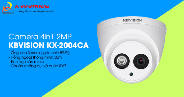 Bán camera 4in1 2MP KBVISION KX-2004CA giá tốt