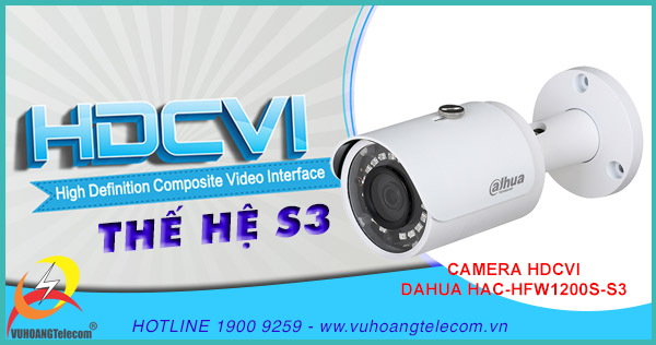Bán camera HDCVI HAC-HFW1200S-S3 giá rẻ