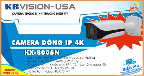 Camera IP 4K Kbvision KX-8005N