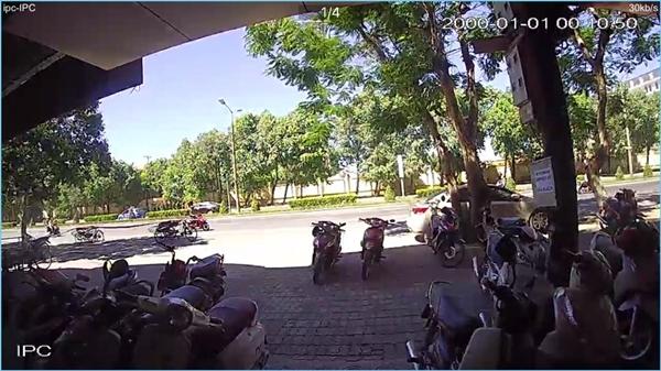 Camera IP Dahua IPC-C15P test ban ngày ngoài trời