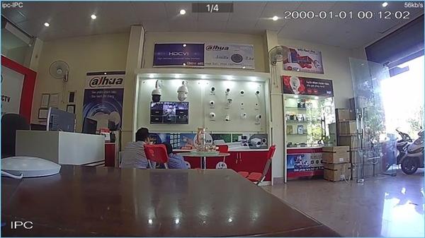 Camera IP Dahua IPC-C15P test ban ngày