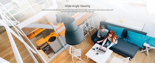 Camera cung cấp hình ảnh sắc nét 1080p với góc nhìn rộng 135 độ