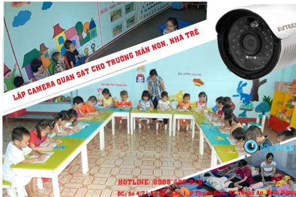 Lắp đặt camera quan sát cho trường mầm non. nhà trẻ tại Thủ Dầu Một.